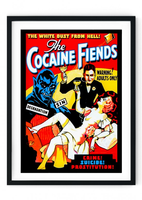 The Cocaine Fiends Retro Giclee Poster