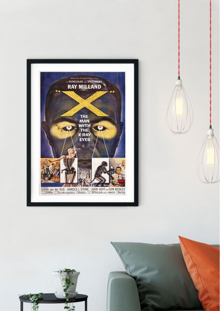 The Man with the X-Ray Eyes Retro Film Poster
