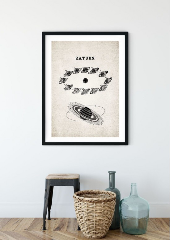 Saturn Orbit Giclee Print