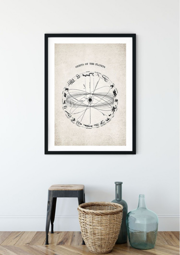 Orbits of the Planets Giclee Print