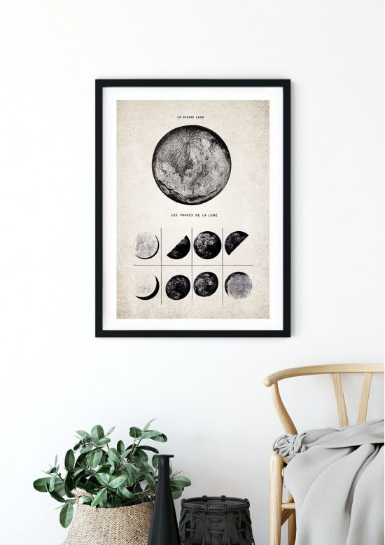 Moon Phases, Full Moon Giclee Print