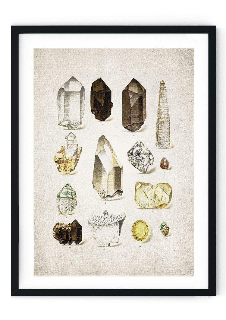 Crystals Giclee Print