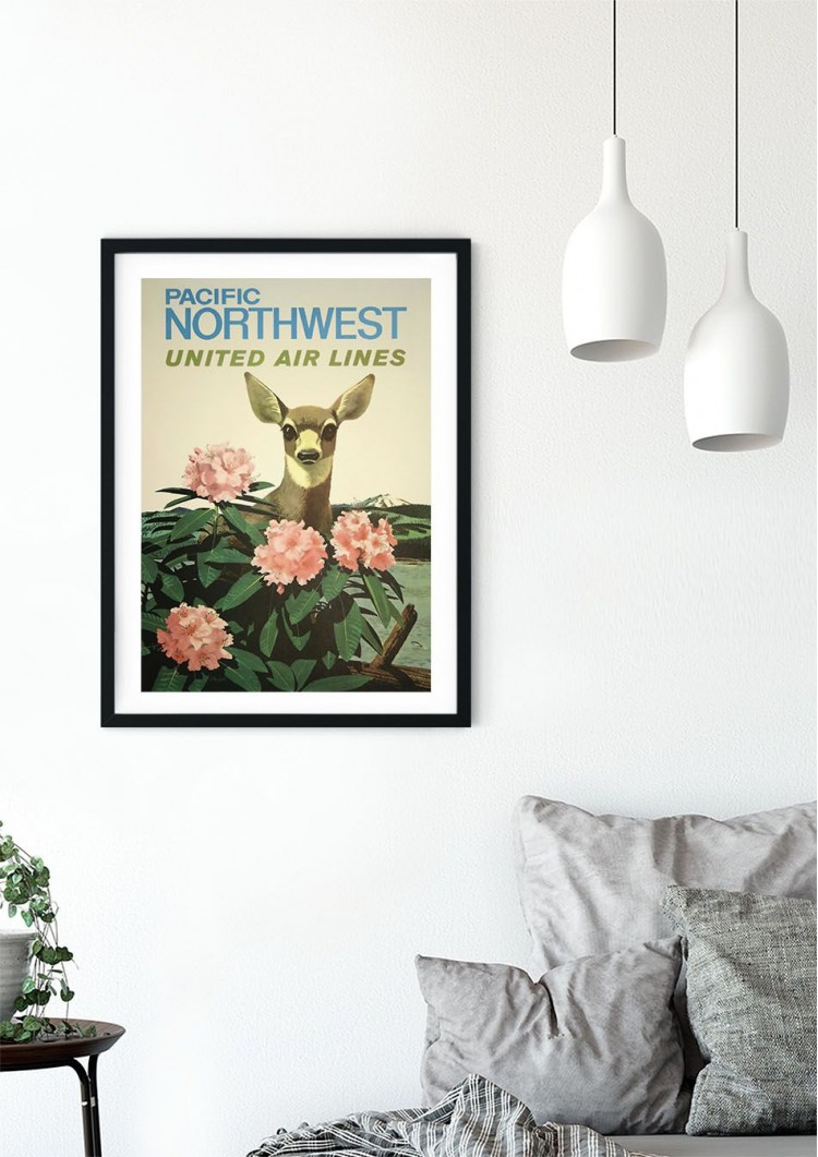 America Nortwest Travel Retro Giclee Poster