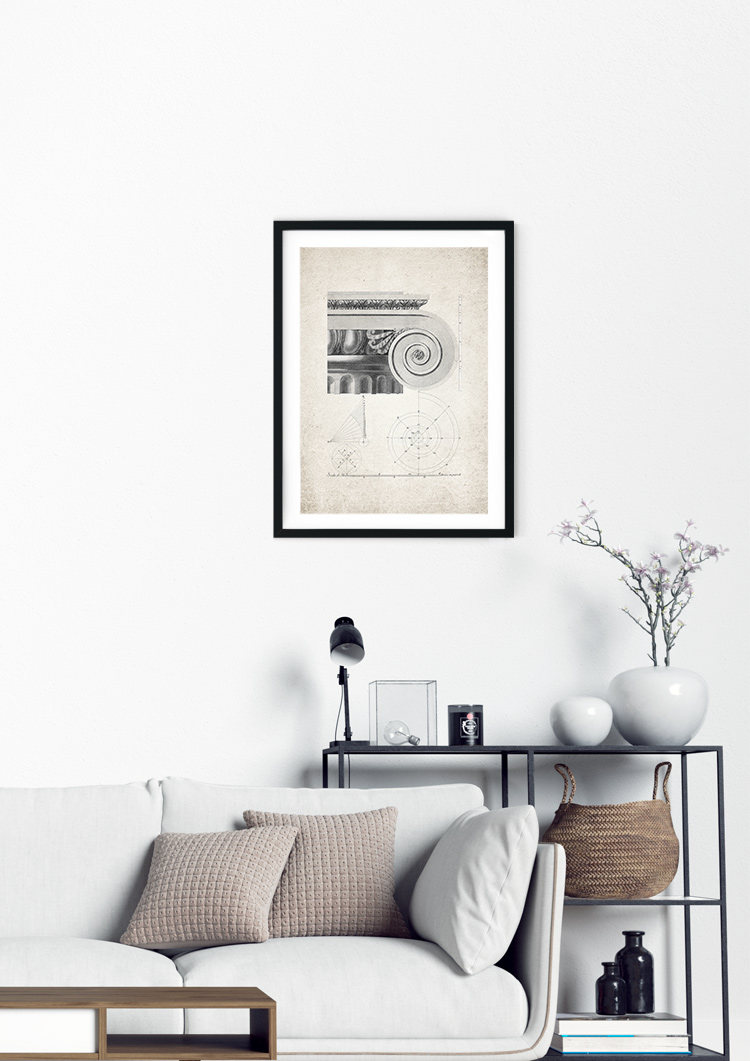 Roman Architecture Ionic Entablature Giclee Print
