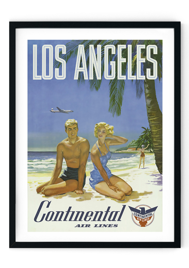 Los Angeles Travel Retro Giclee Poster