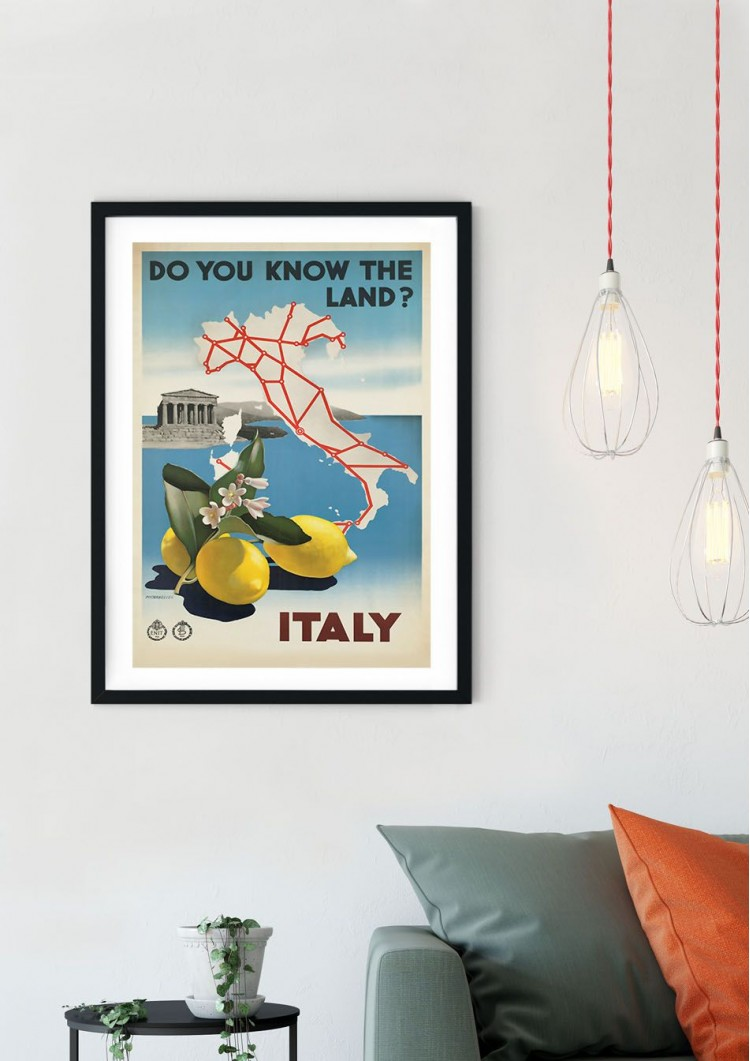 Italy Travel Retro Giclee Poster