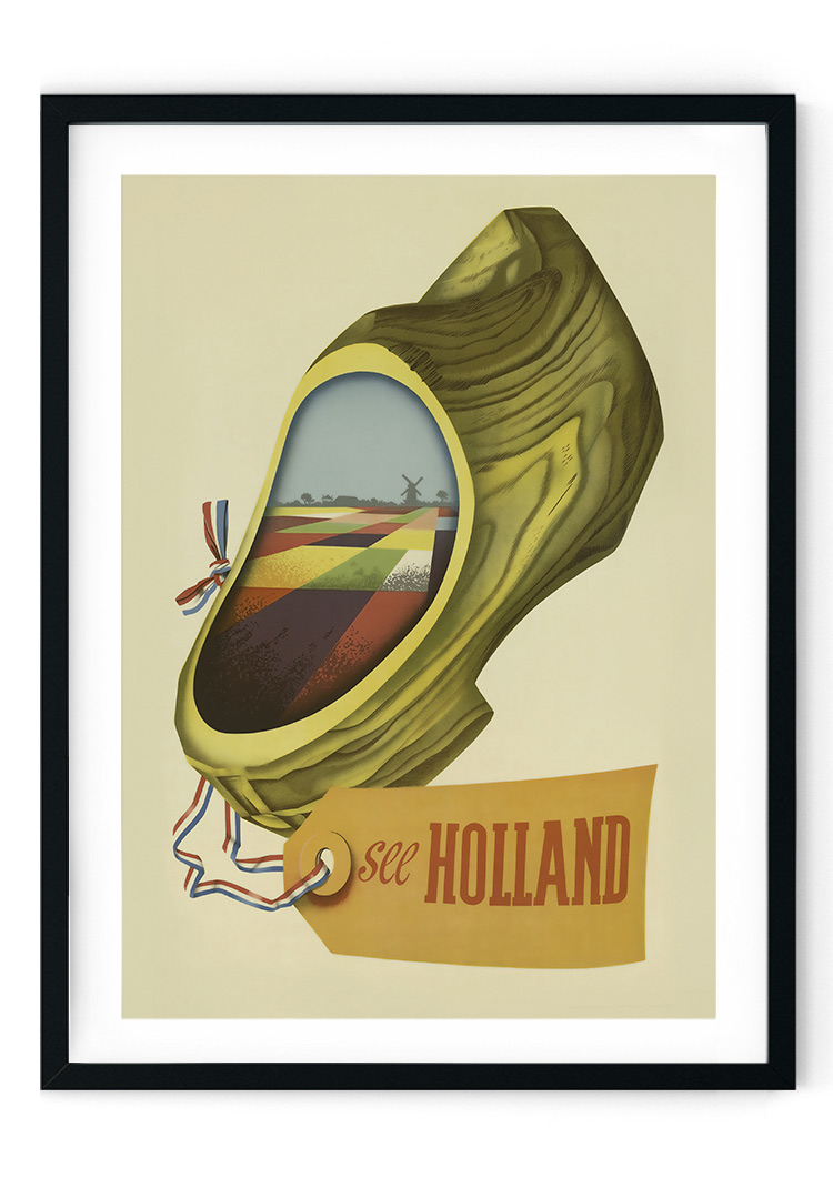 Holland Travel Retro Giclee Poster