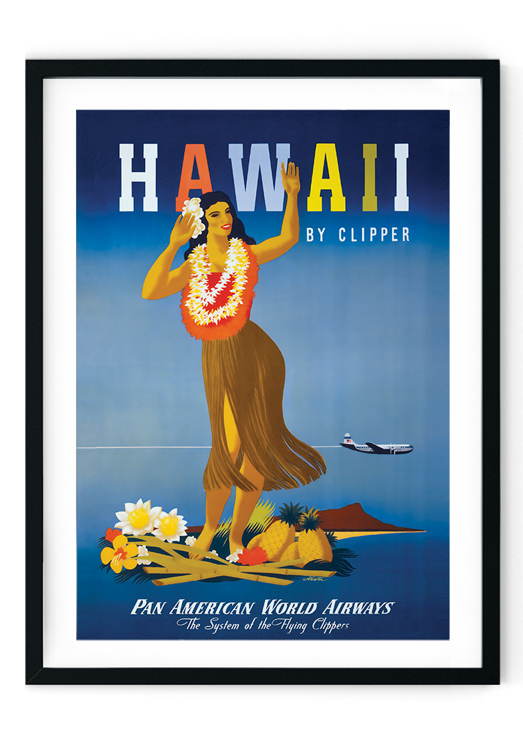 Hawaii Travel Retro Giclee Poster