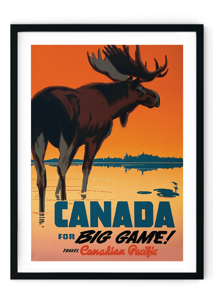 Canada Travel Retro Giclee Poster