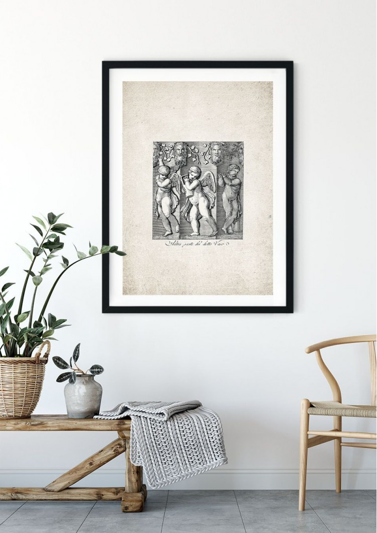 Roman Angel Carving Giclee Print