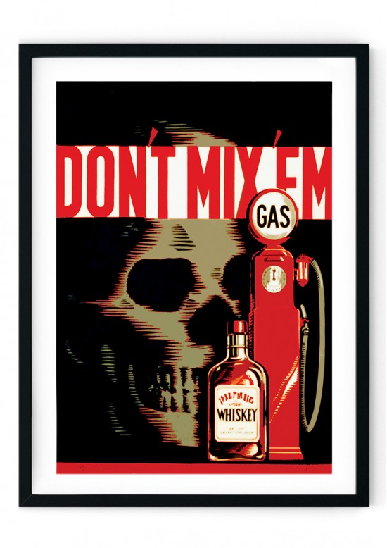 Don't Mix Retro Giclee Poster