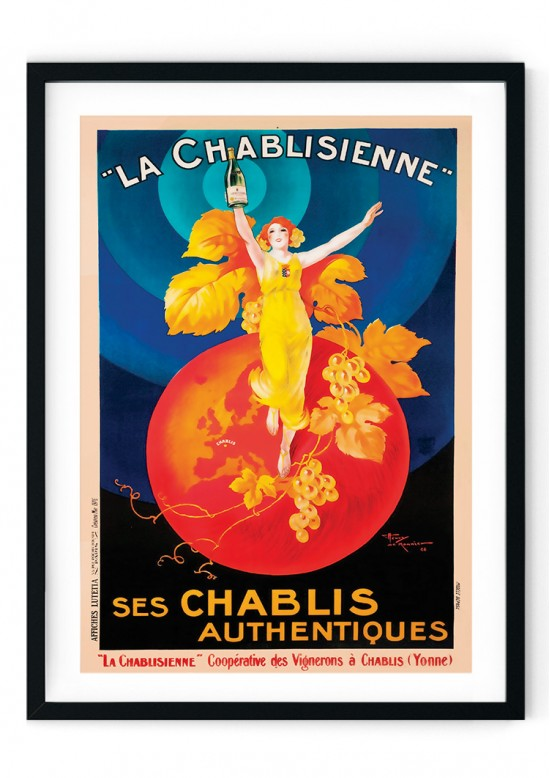 Chablis Alcohol Retro Giclee Poster