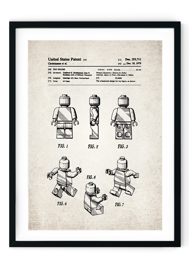 Lego Antique Patent Giclee Print