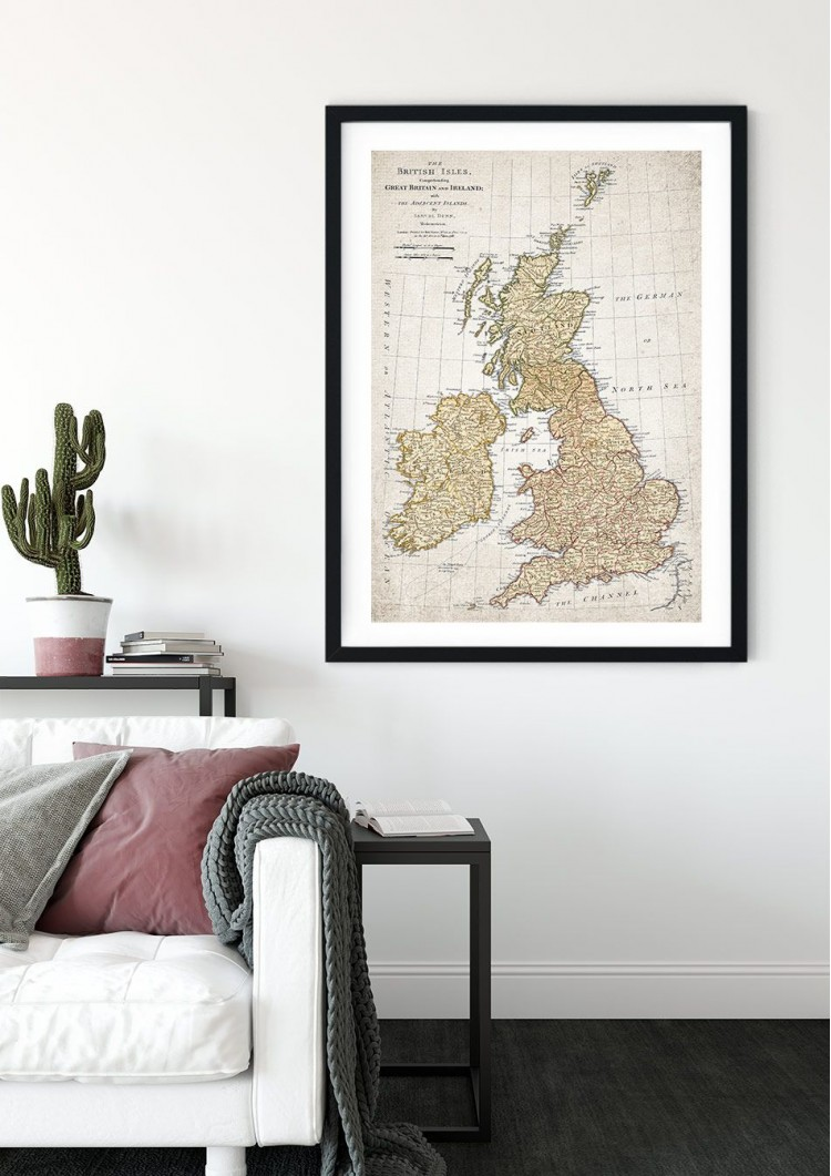 1716 Map of Great Britain Giclee Print