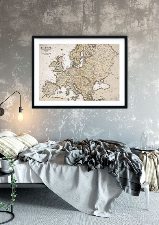 1800 Map of Europe Giclee Print