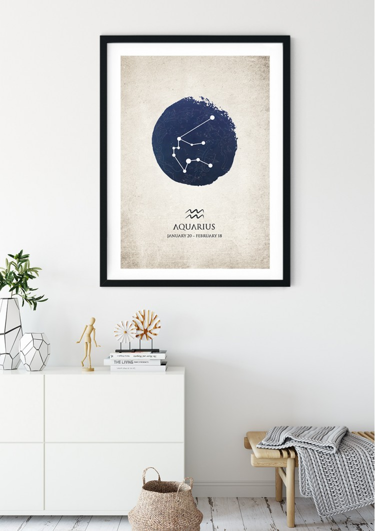 Aquarius Star Sign Giclee Print