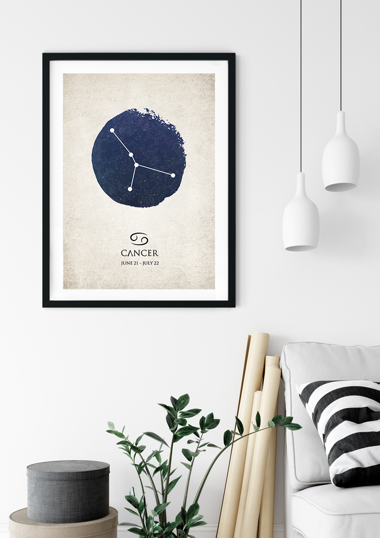 Cancer Star Sign Giclee Print