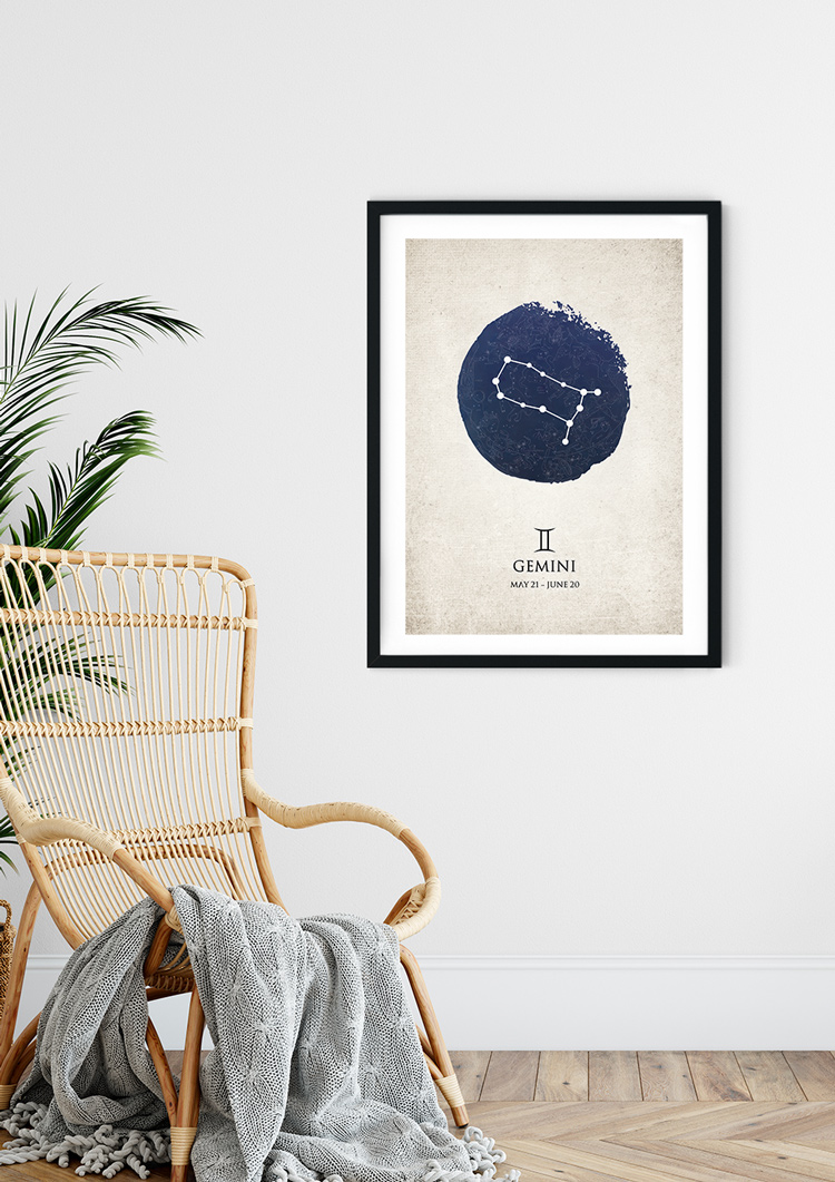 Gemini Star Sign Giclee Print