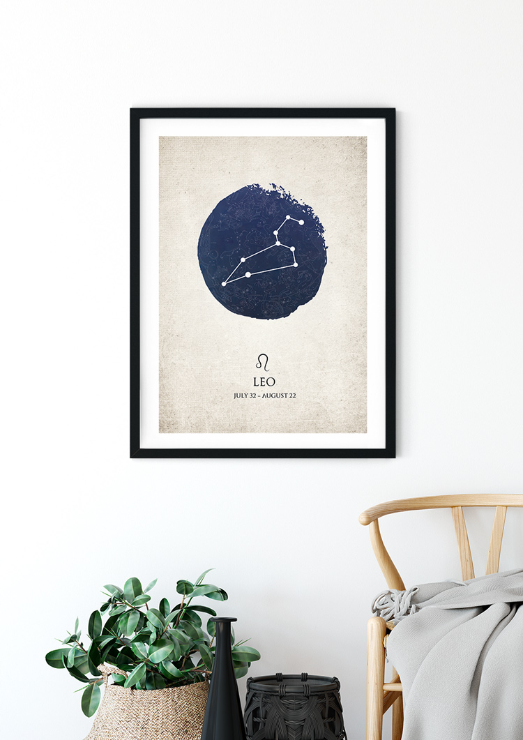 Leo Star Sign Giclee Print
