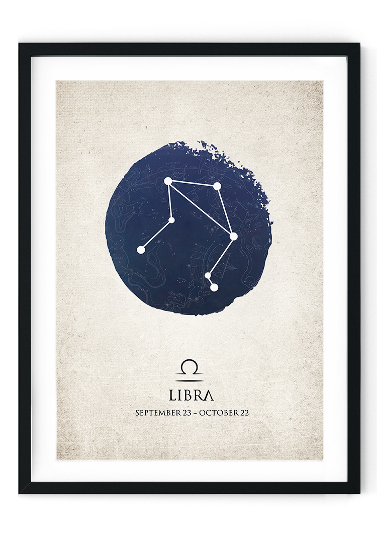Libra Star Sign Giclee Print