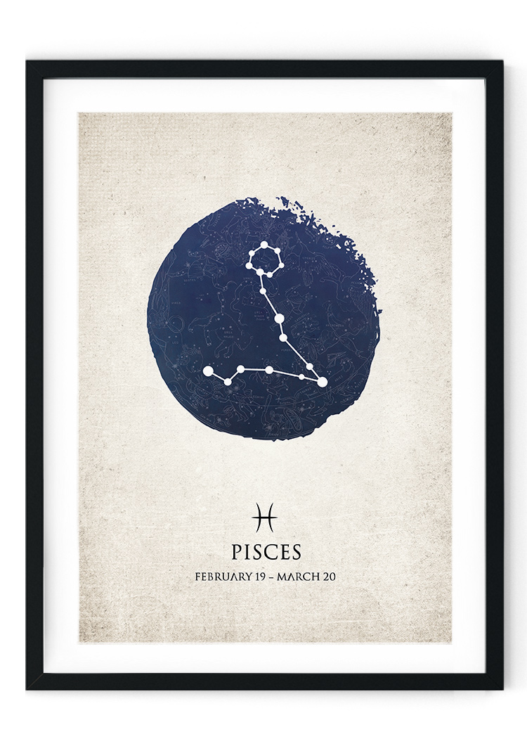Pisces Star Sign Giclee Print