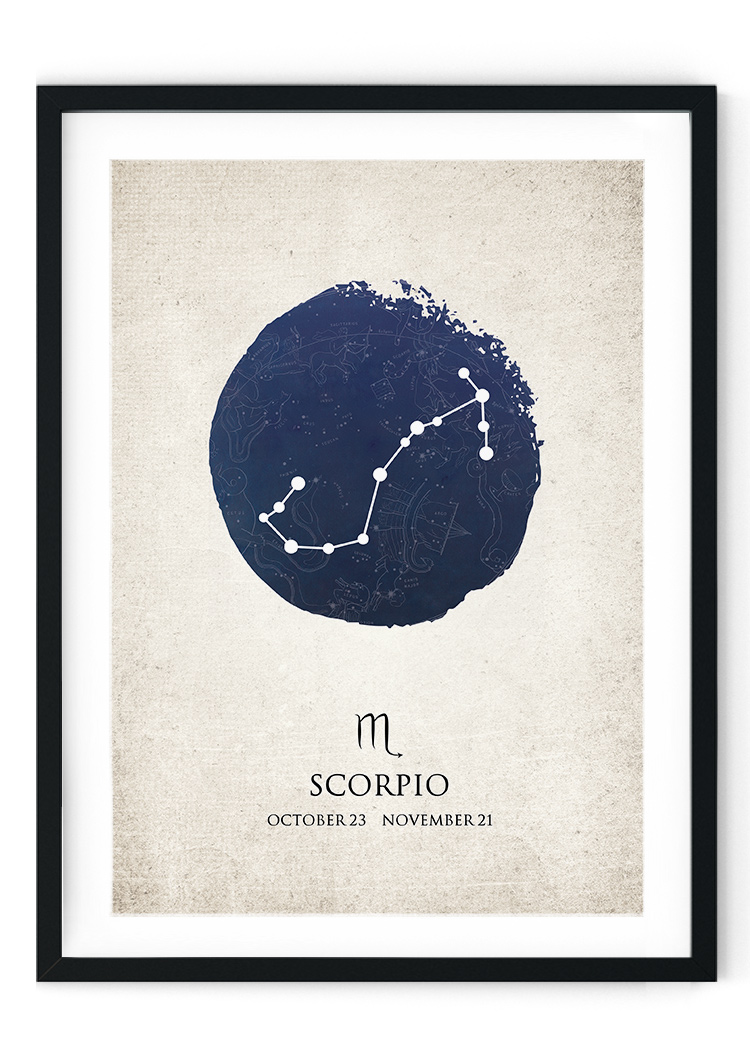 Scorpio Star Sign Giclee Print