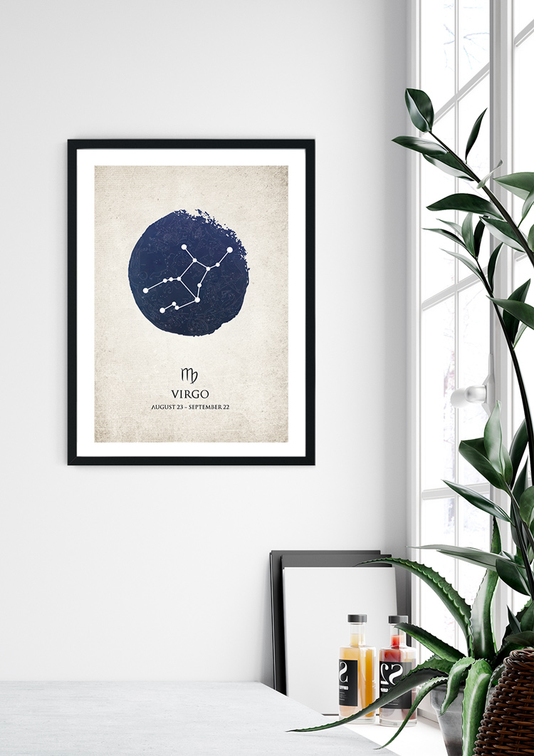 Virgo Star Sign Giclee Print
